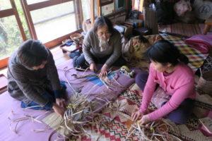ゴザ編み講習のためのプレ講習