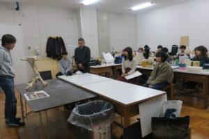 竹紙照明のプレゼンテーション授業